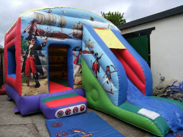 12' Pirate Bouncy castle with front slide